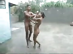 Indian Besmirched outdoor Sex