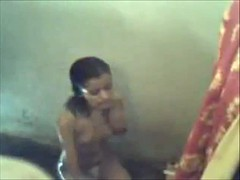 Desi young wife flushing