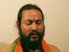 Swamiji enjoying with bonny..