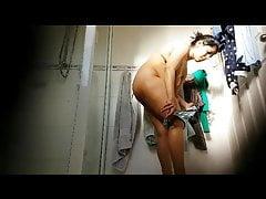 Indian MILF yon bathroom