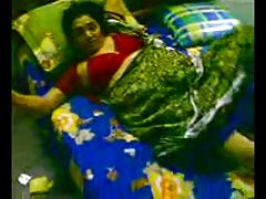 Indian Aunty going to bed..